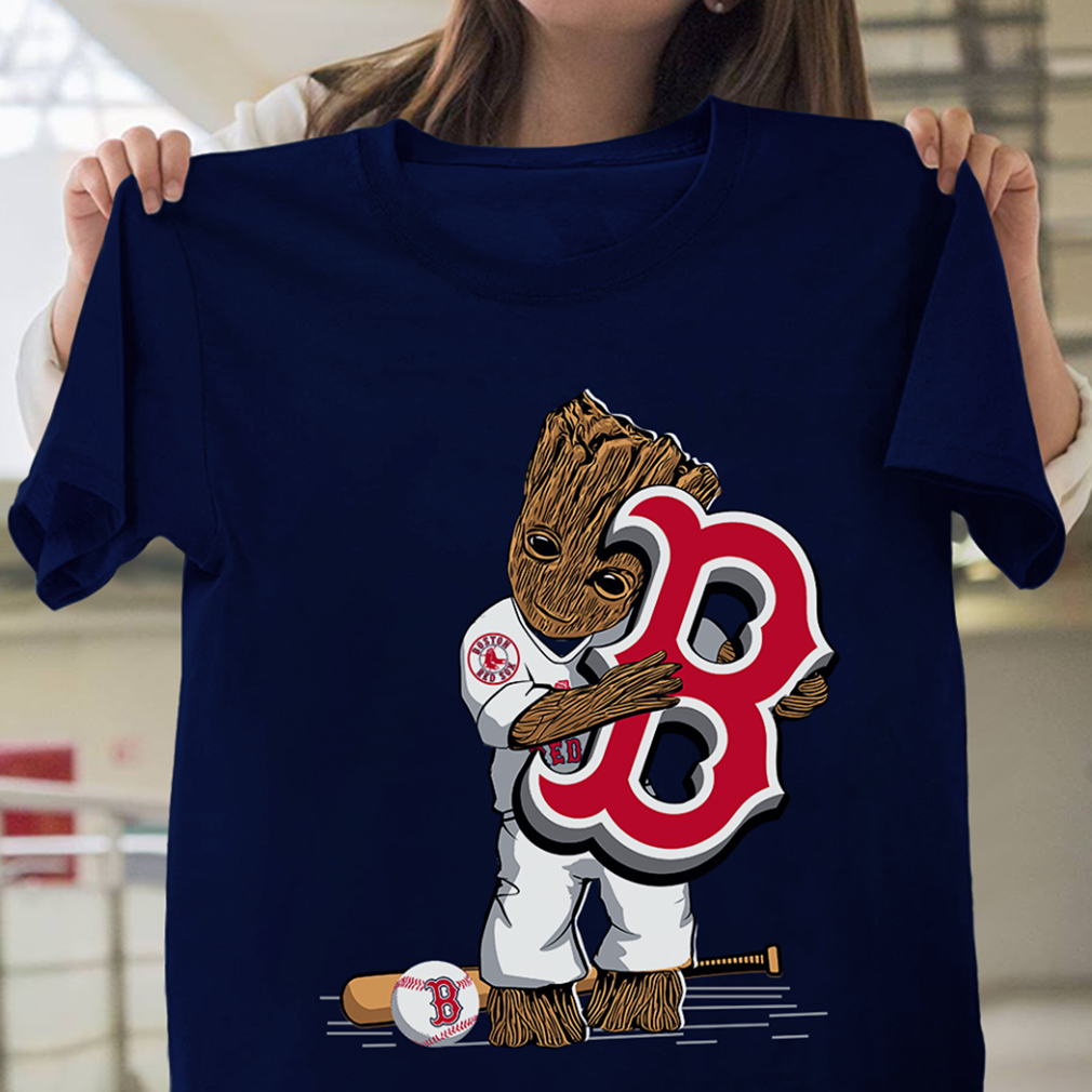 separation shoes 4c2da de9d8 Groot hug Boston Red Sox shirt - KingTees