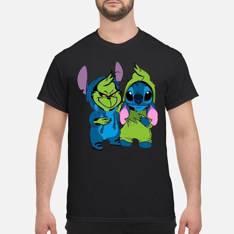 Baby Grinch And Stitch Shirt