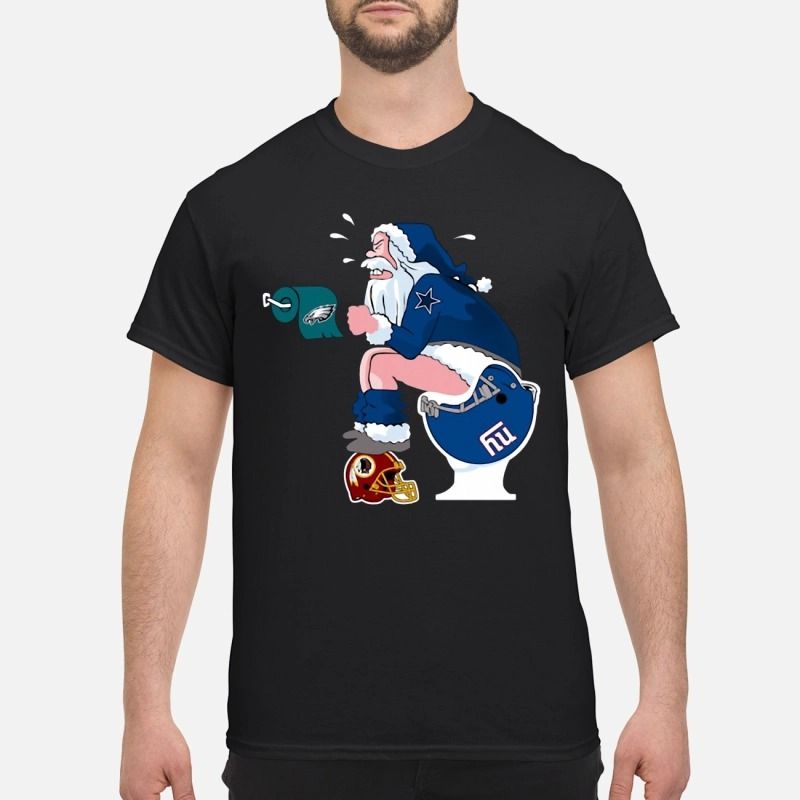 Dallas Cowboys Santa Claus toilet shirt
