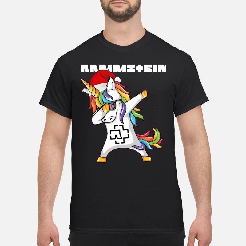 Rammstein Santa Unicorn dabbing shirt