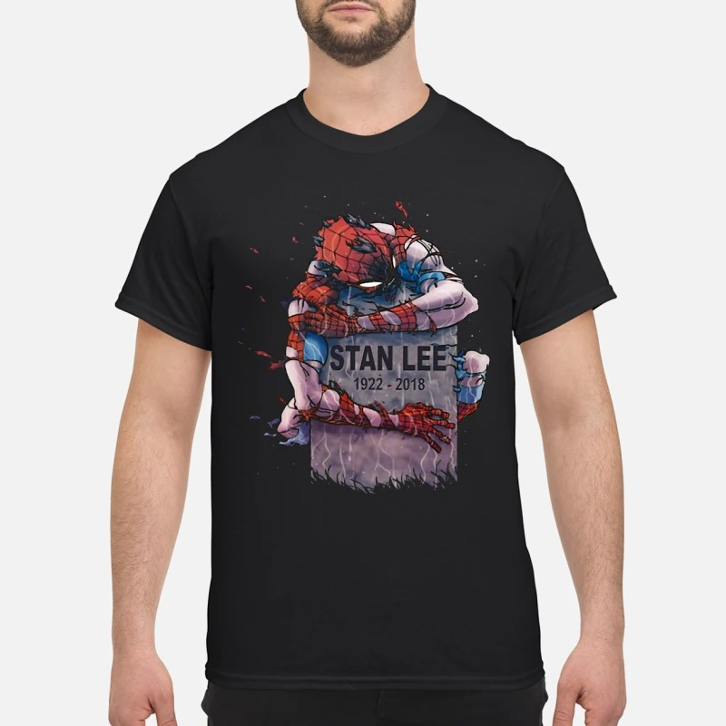 a671327e Spider Man hug Stan Lee's grave Shirt, Hoodie And Sweater