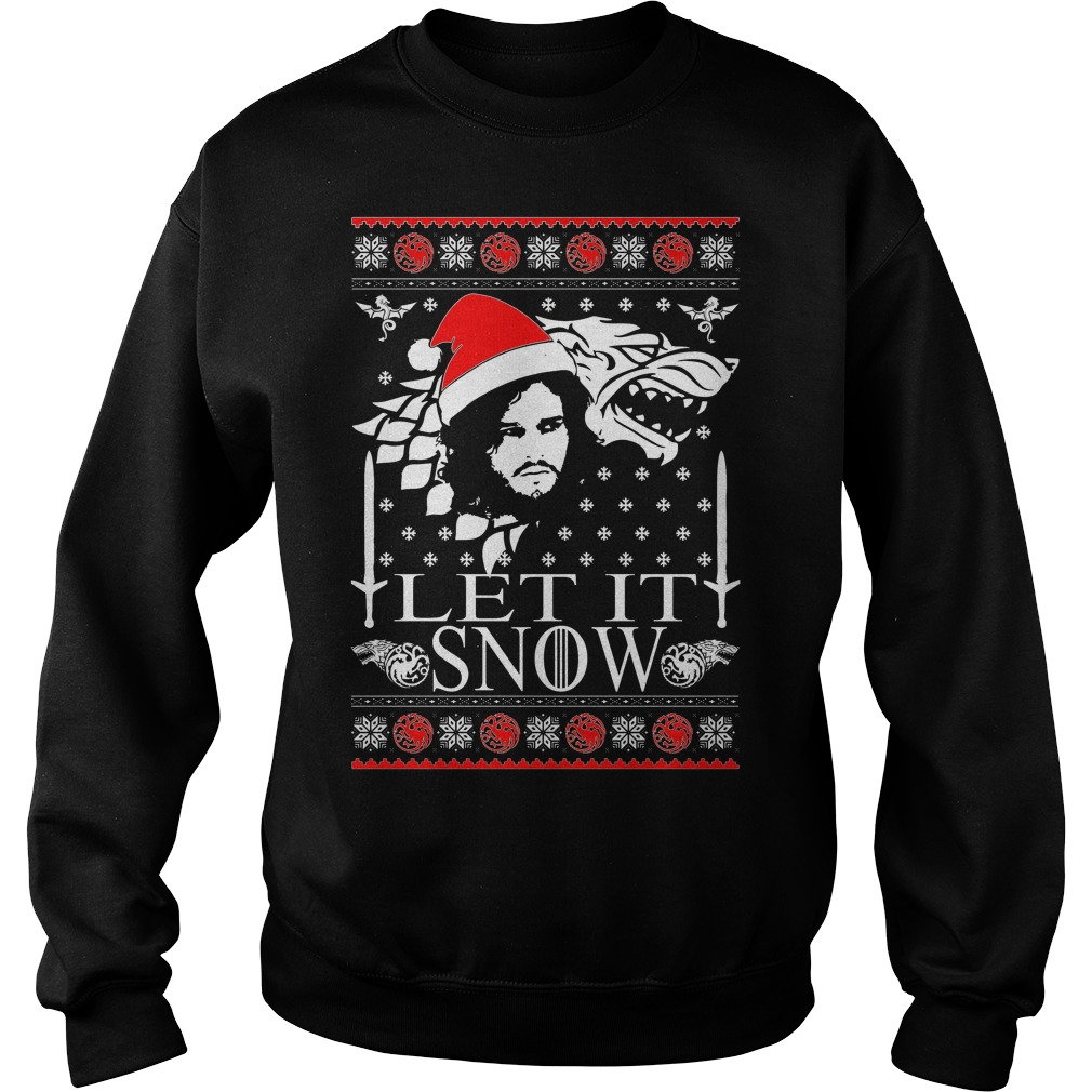 Jonsnow let it snow ugly christmas sweater