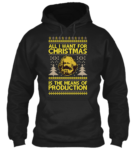 Karl Marx: All I want for Christmas is the means of production Christmas sweater