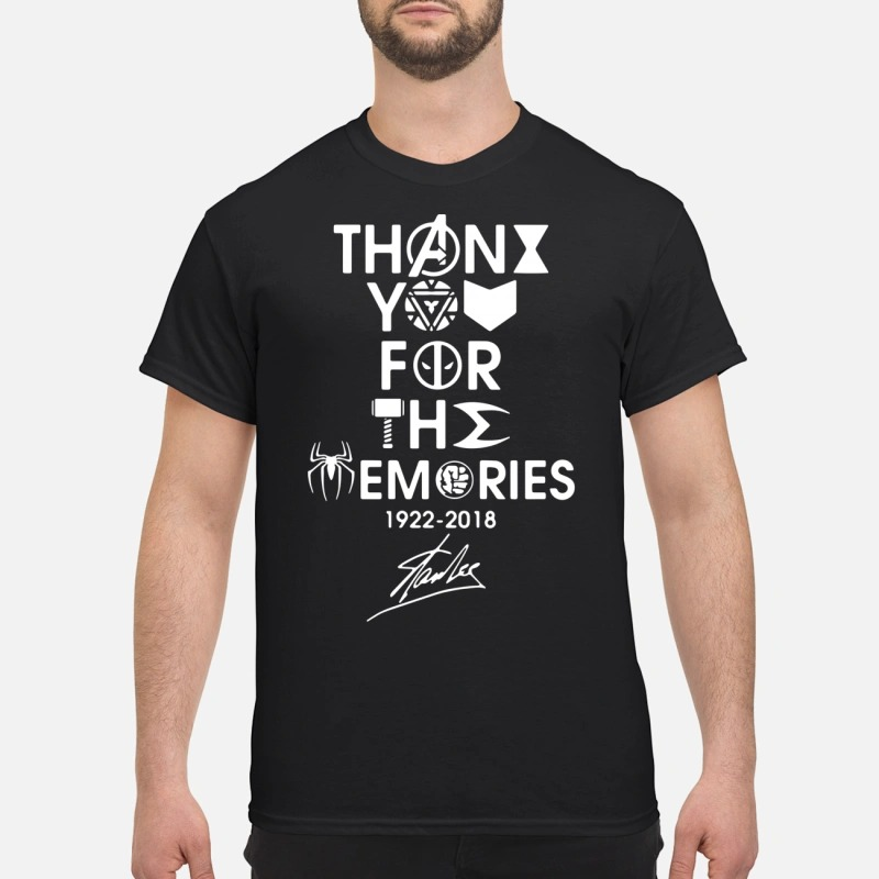 thank you for the memories 1922 2018 Stan Lee shirt
