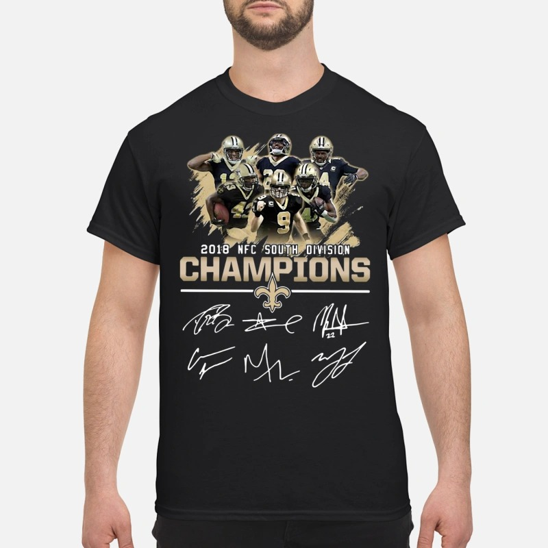 2018 NFC south division champions New Orleans Saints shirt