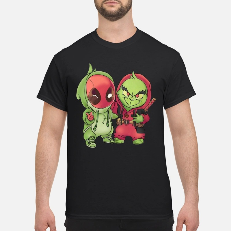 Baby Deadpool And Grinch Shirt