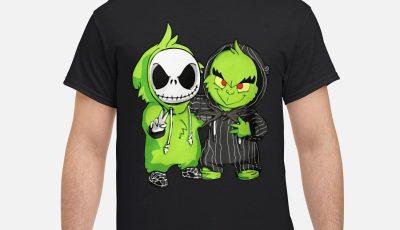 Baby Jack Skellington and Grinch Best Friends shirt