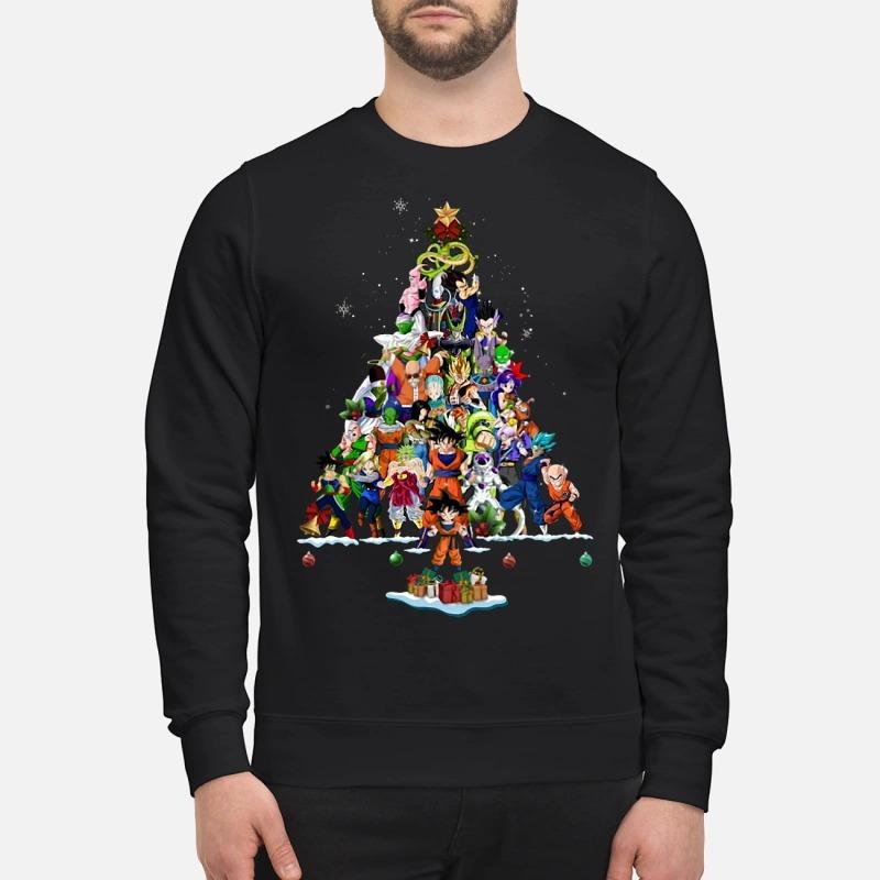 Dragon Ball Z Characters Christmas Tree Sweater