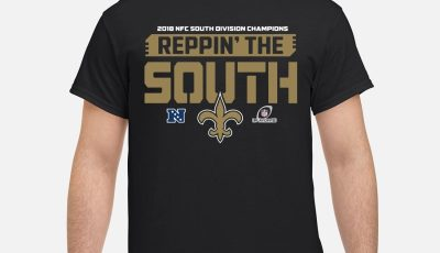 NFL Pro Line by Fanatics Branded Black New Orleans Saints 2018 NFC South Division Champions Fair Catch shirt