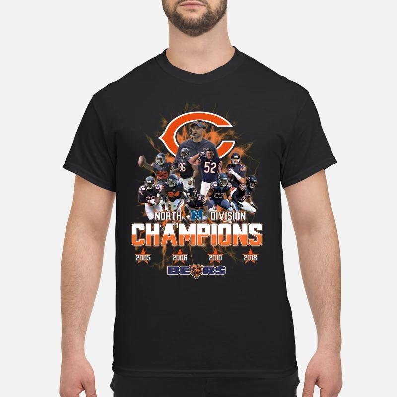 North Division Champions 2005 2008 2010 2019 Chicago Bears Shirt
