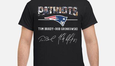 Official Patriots Tom Brady Rob Gronkowski Signature shirt