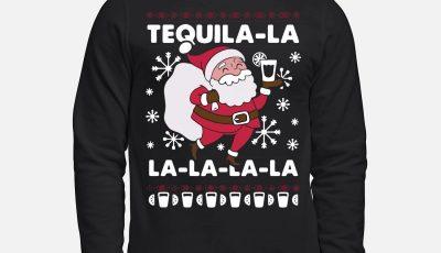 Santa Claus Tequila La la la la la Christmas Sweater
