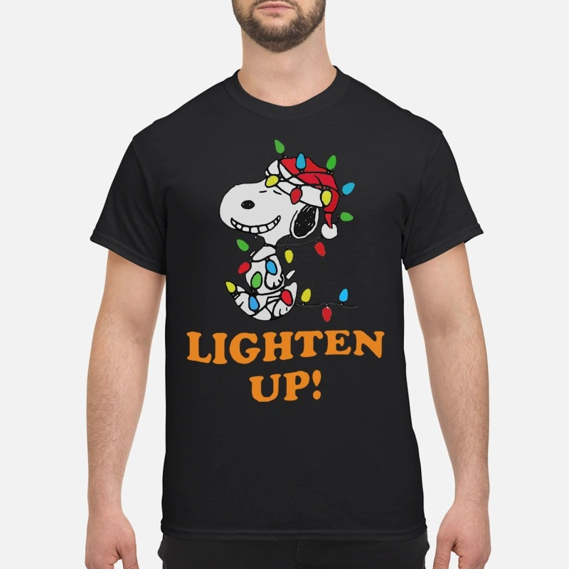 Snoopy christmas lighten up shirt