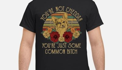Sunset Fox You're Not Cheddar You're Just Some Common Bitch Shirt