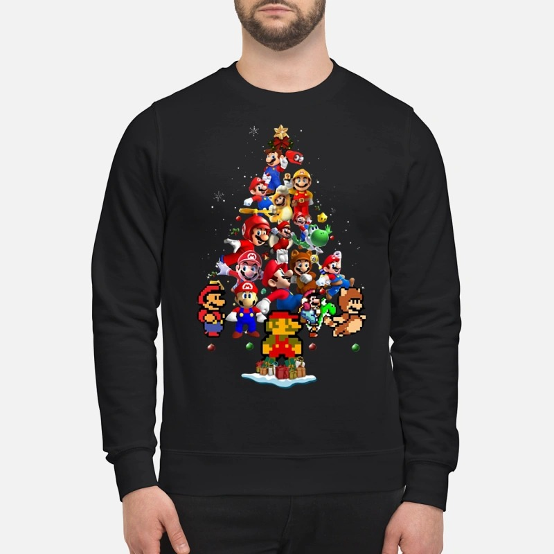 Super Mario Christmas Tree Sweater