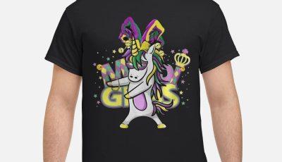 Flossing Unicorn Mardi Gras New Orleans Party Shirt
