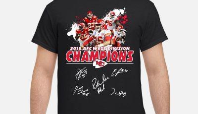 Kansas City Chiefs 2018 AFC West Division Champions shirt