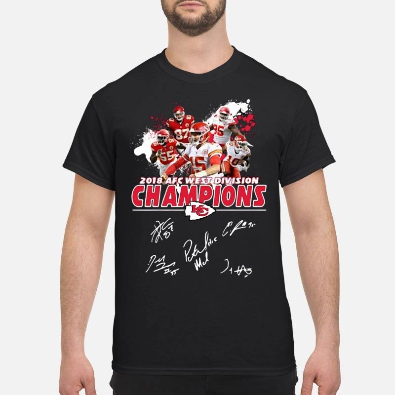 Kansas City Chiefs 2018 AFC West Division Champions shirt