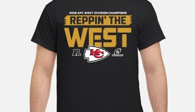 Kansas City Chiefs 2018 AFC West division champion Reppin the West shirt