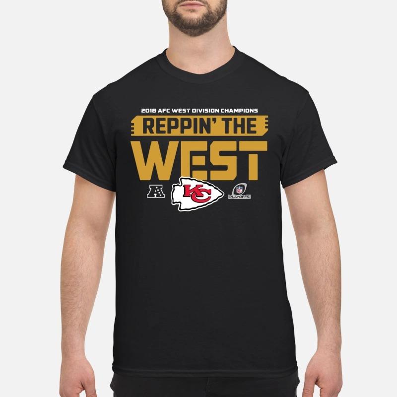 1d4a4522 Kansas City Chiefs 2018 AFC West division champion Reppin the West shirt
