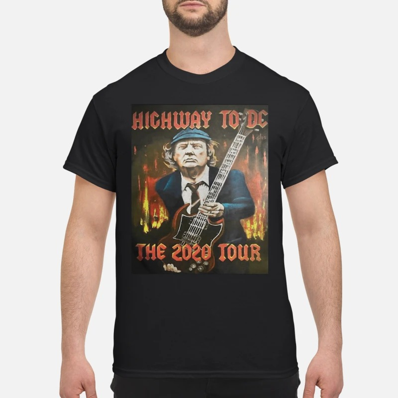 Trump highway to DC the 2020 tour shirt