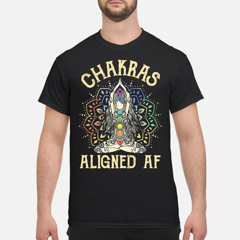 Yoga Chakras Aligned AF shirt