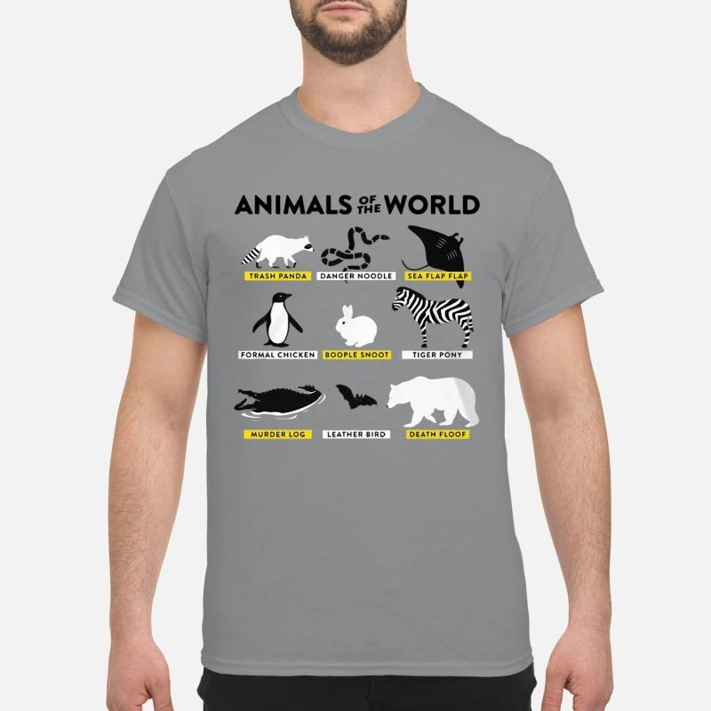 Animals Of The World Trash Panda Danger Noodle Sea Flap Flap Shirt