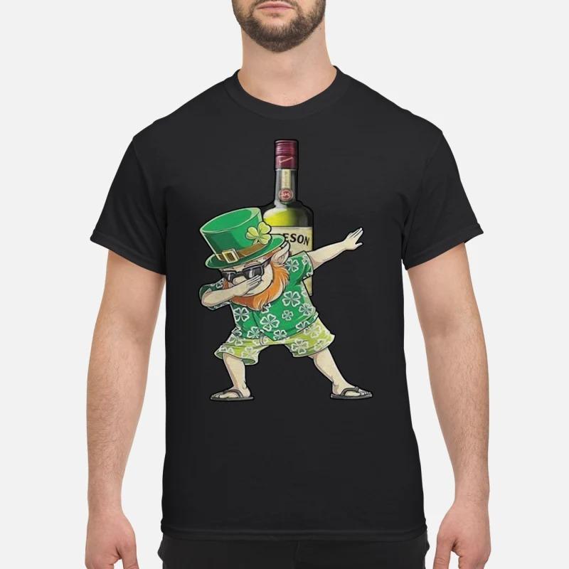 Dabbing Leprechaun Hawaiian Jameson Irish Whiskey Shirt