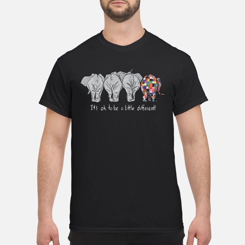 It's ok to be a little different Autism elephans shirt