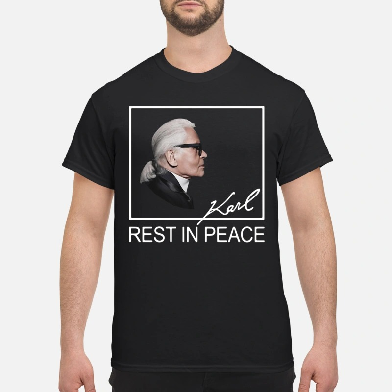 Karl Lagerfild Rest In Peace shirt