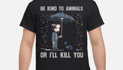 Keanu Reeves Be kind to animals or I'll kill you shirt