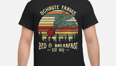 Schrute farms bed and breakfast Est 1812 retro shirt