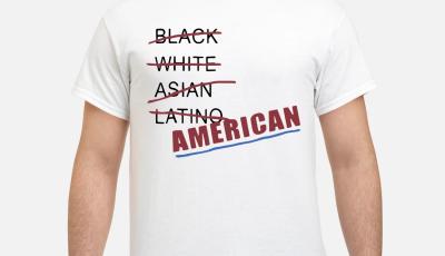 Black white Asian latino American shirt