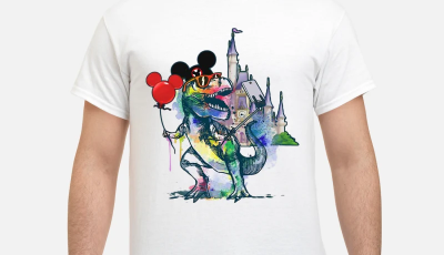 Dinosaur T-rex and Home Mickey mouse shirt