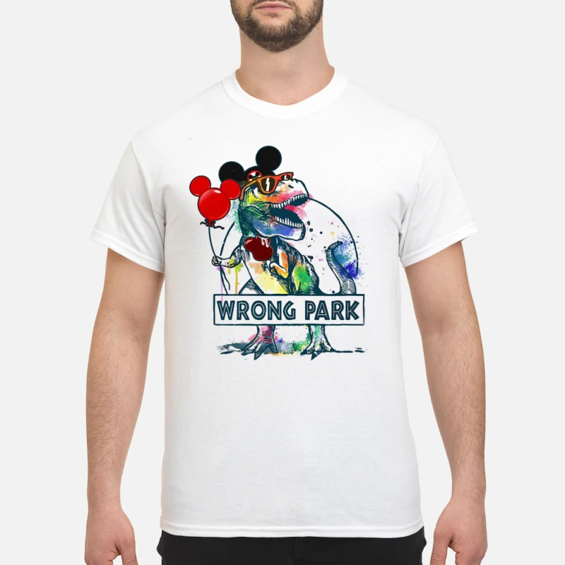 2d677338f Dinosaur T-rex and Mickey mouse wrong park shirt, ladies, hoodie