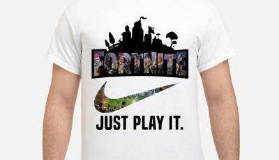 Fortnite Battle Royale Nike just play it shirt