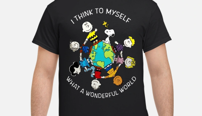 Snoopy Charlie and friends I think to myself what a wonderful world shirt
