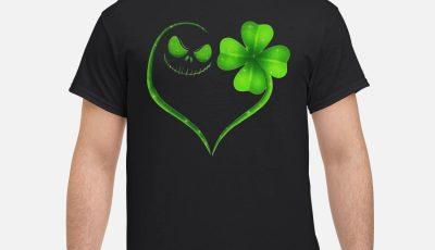 St Patrick's day Skeleton love Shamrock shirt