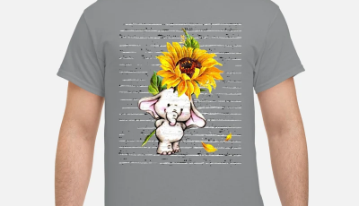 Sunflower Baby elephant cute shirt