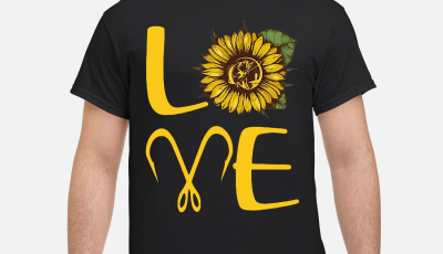 Sunflower fishing hooks Love Shirt