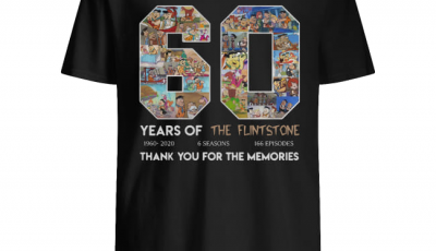 60 years of the Flintstone thank you for the memories shirt