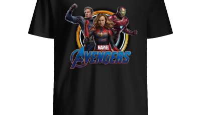 Avengers Endgame Captain Marvel Iron Man and Captain America shirt