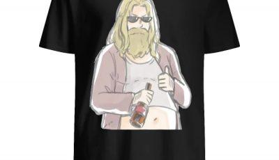 Avengers Endgame Thor fat like drink beer shirt