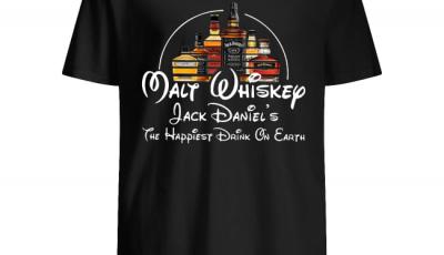 Disney Malt Whiskey Jack Daniel's the happiest drink on earth shirt