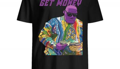 Get money Notorious BIG Comic Villian Thanos Mash up Parody art Inspired Rare Artwork Shirt