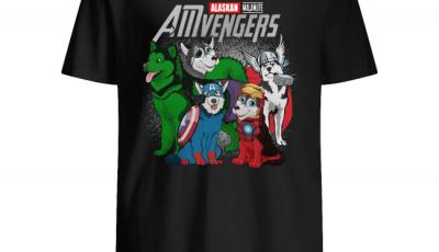 Marvel AMvengers Alaskan Malamute version shirt