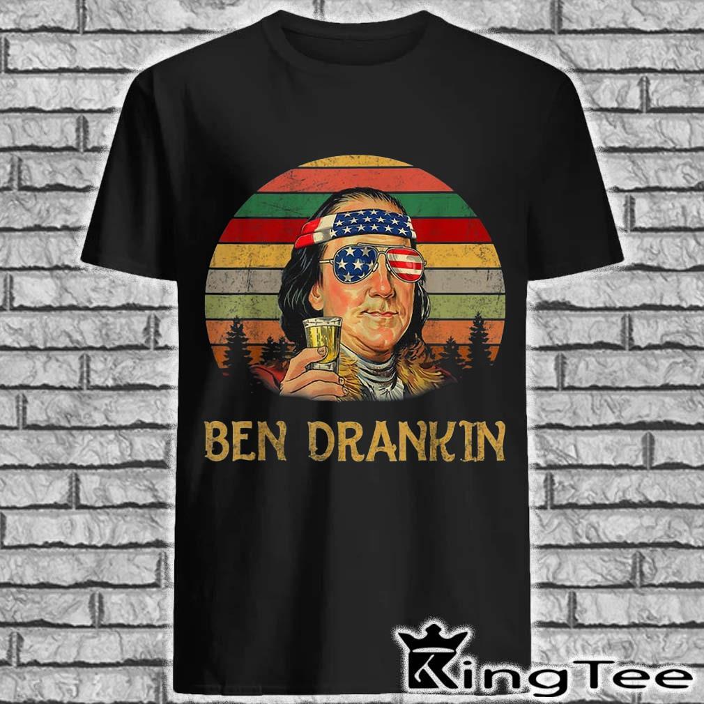 Ben Drankin Benjamin Franklin beer 4th Of July vintage shirt