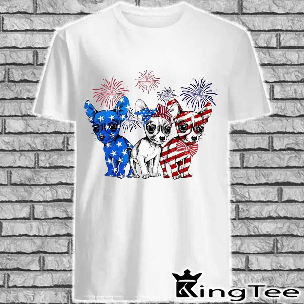 Chihuahua Flag American Colors shirt