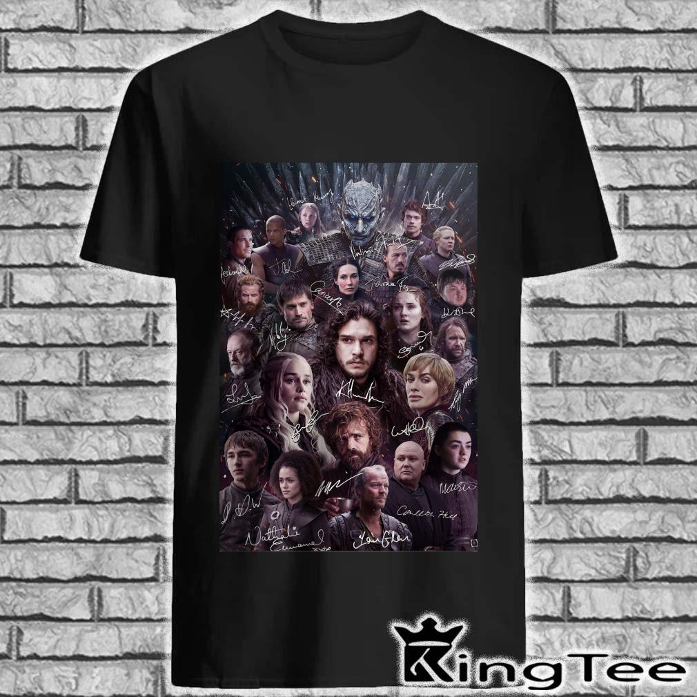 Game Of Thrones poster characters signatures shirt