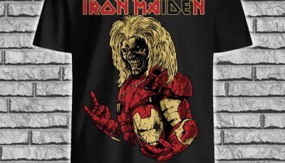 Iron Maiden Iron Man style shirt